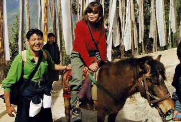 Horse riding to Taktshang