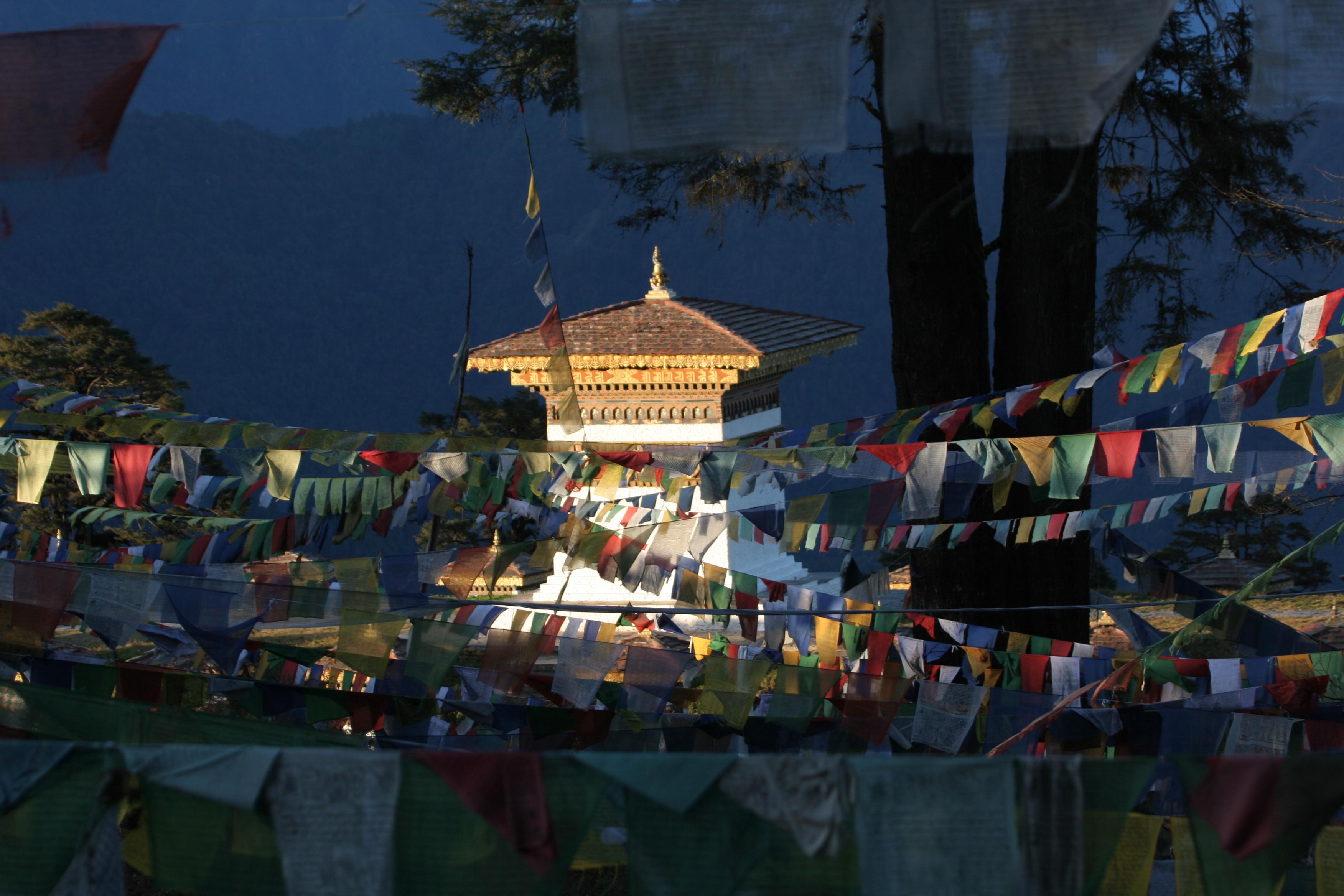 Dochula at dusk| Bhutan Visit