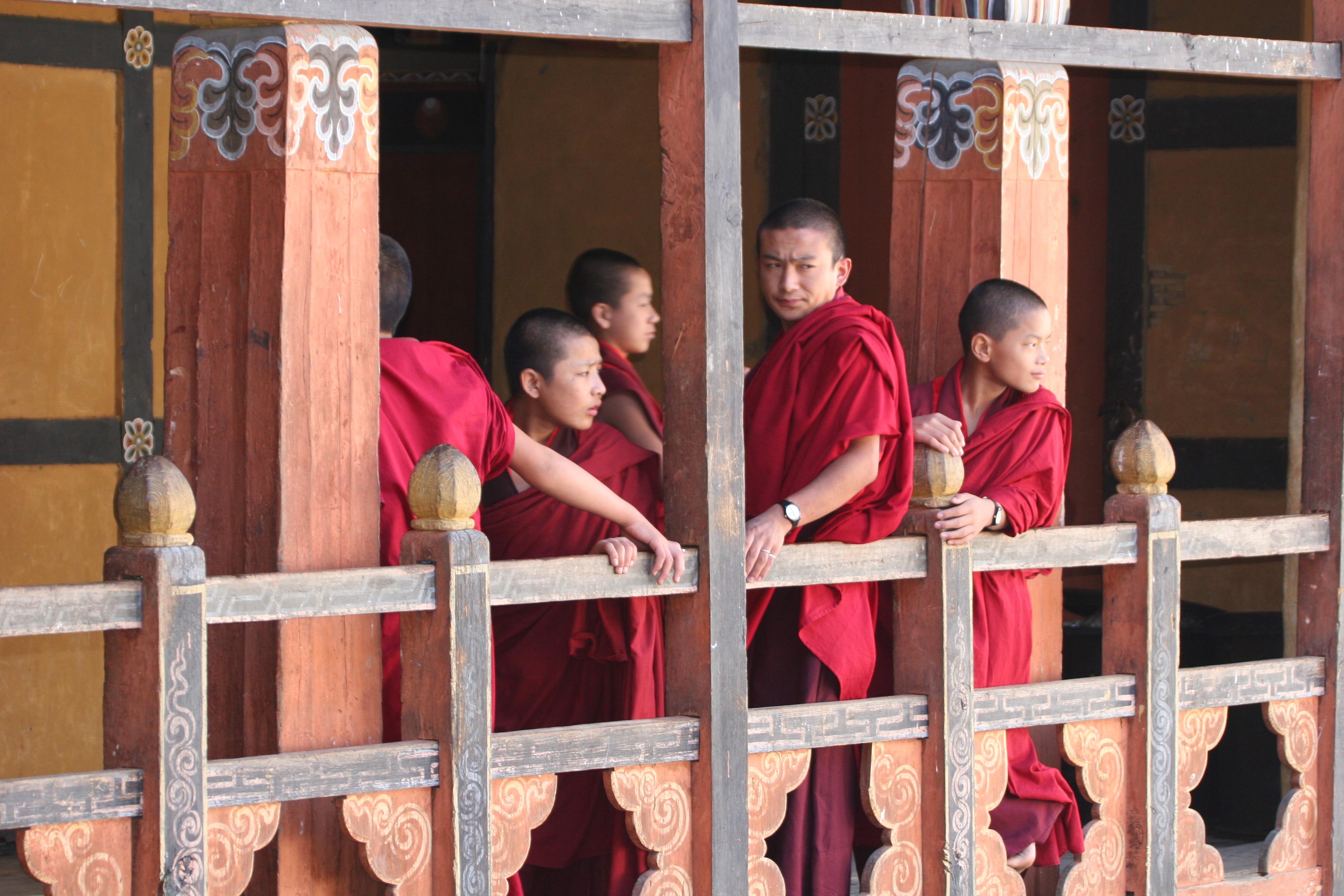 Lhuentse monks | Bhutan visit